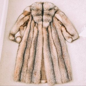 Vintage long fur coat